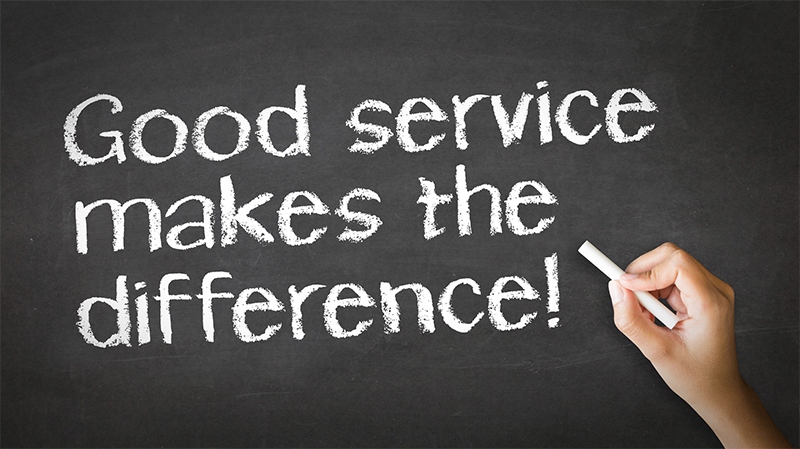 Good service makes the difference